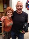 That's Margaret with her new friend Greg Lemond!