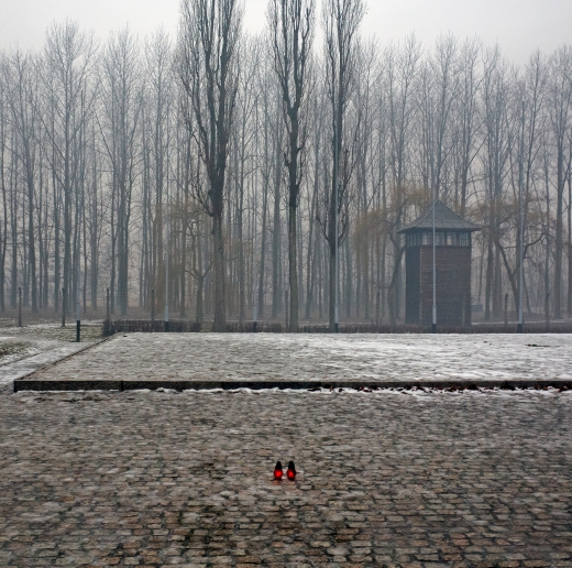 Site of Birkenau crematorium